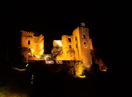 Le château se pare de lumières pour les fêtes