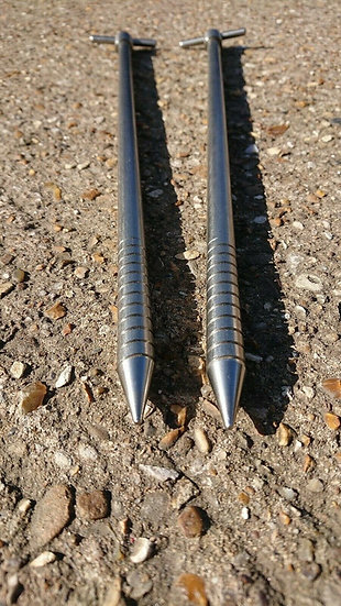 Top-Notch Tackle - Two 'Goliath' Stainless Steel Bivvy Pegs.