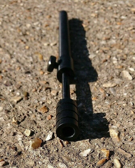 """Top-Notch Tackle - Black Anodised Ally Adjustable Chunky BankStick - 12""""-18"""""""