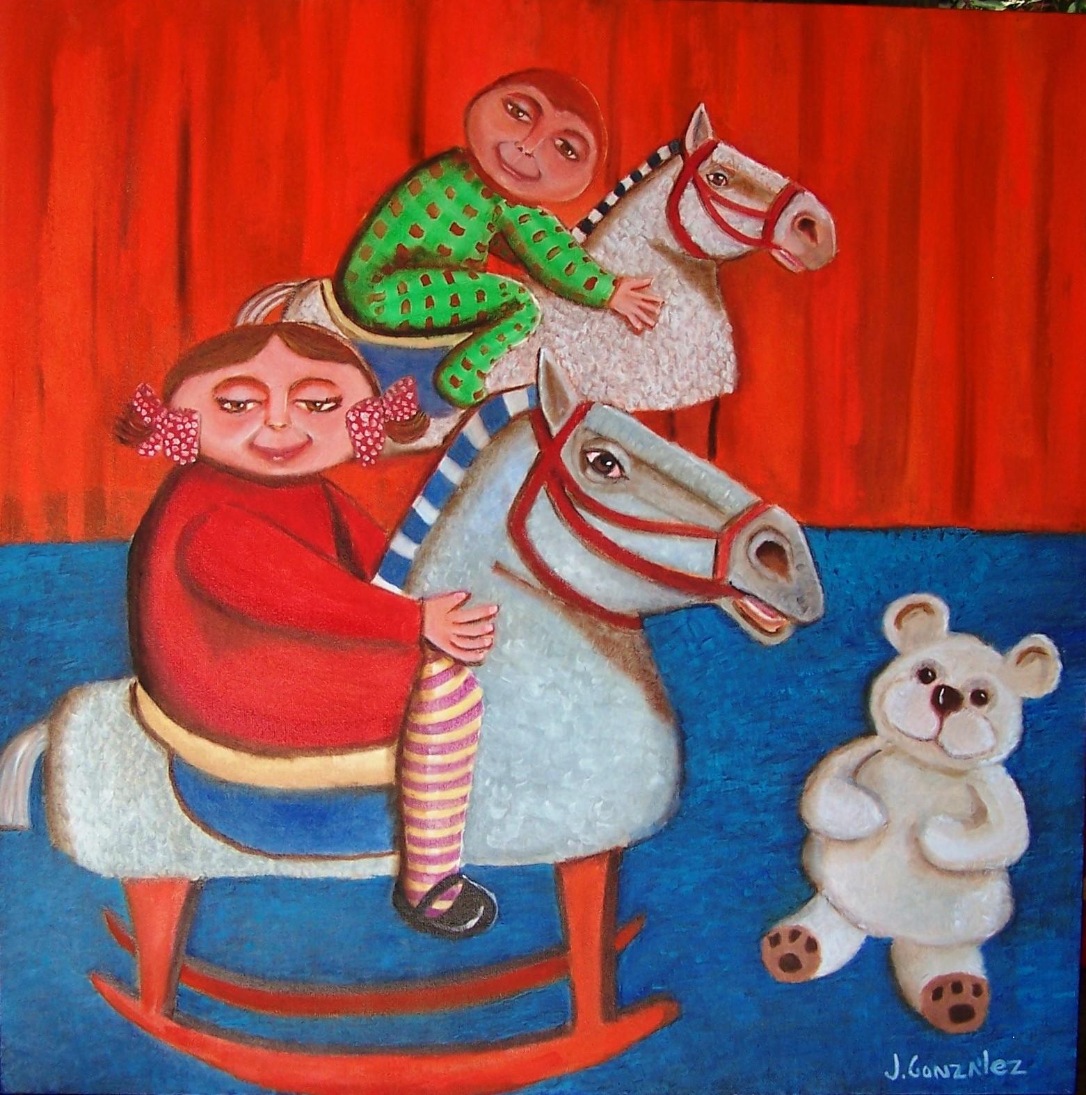Nenes a caballo