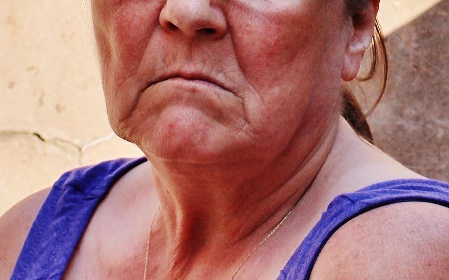 Sad, downbeat woman's face.