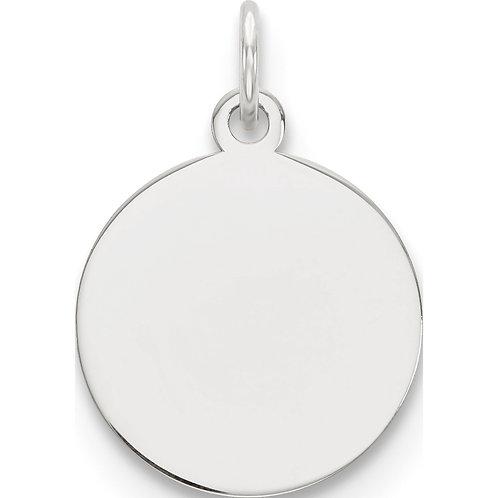 Round Pendant - Rhodium - Silver Color
