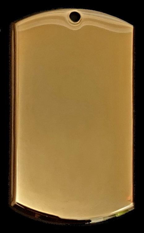 3D - قلادة النمط العسكري   - معدن الروديوم - لون ذهبي