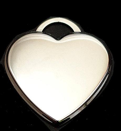 לב תלת מימדי - גדול - רודיום