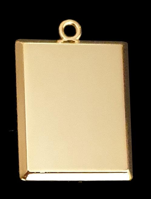 מלבן תלת ממדי (קטן) - רודיום - צבע זהב