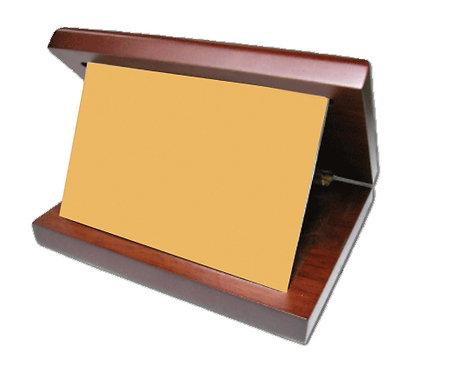 إطار - معدن الروديوم لون ذهبي- مع حامل خشبي