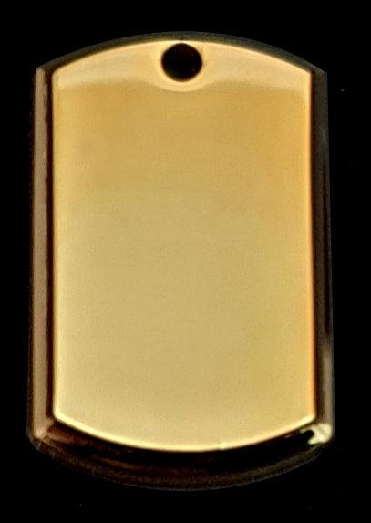 תלת ממד - תליון בסגנון צבאי - (קטן) - רודיום - צבע זהב