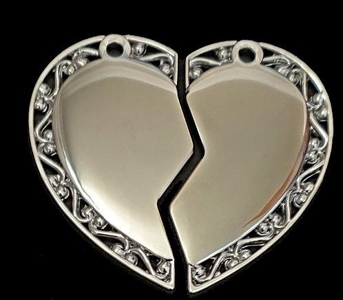 לב מפוצל - (גדול) - רודיום