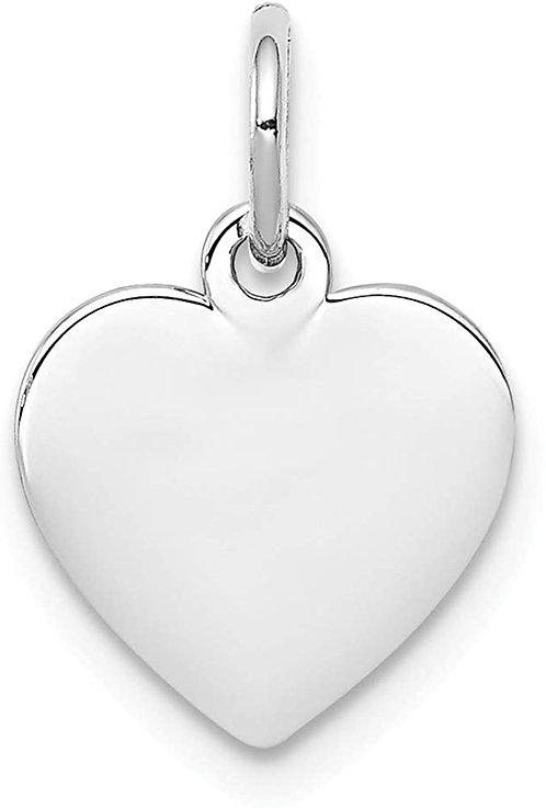לב תלת ממדי - רודיום - צבע כסף