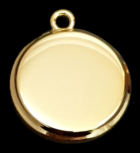 תלת מימד עגול (קטן) - רודיום - צבע זהב