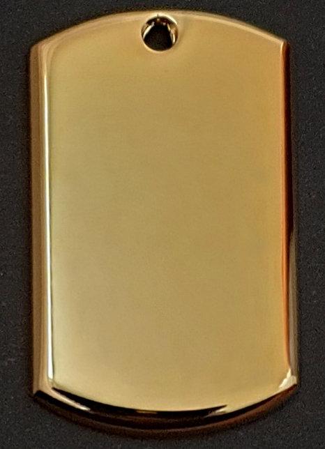 תלת ממד - תליון בסגנון צבאי - (בינוני) - רודיום - צבע זהב