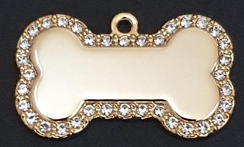 תג עצם - רודיום- צבע זהב