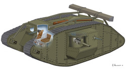 Mark IV, world war one tank
