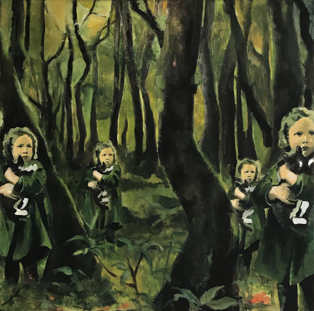 Barn i skog - SÅLD