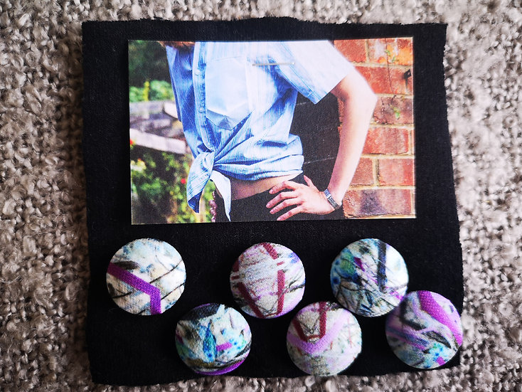 'Electric Woods' Buttons - set of 6