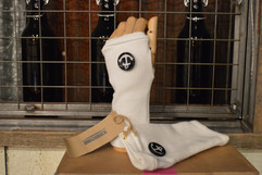 White anchor gloves