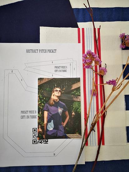 Designer pocket making kit - Abstract patch pocket