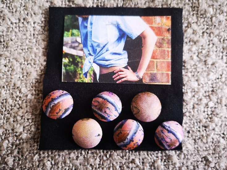 'Abstract Woodland' Buttons - set of 6