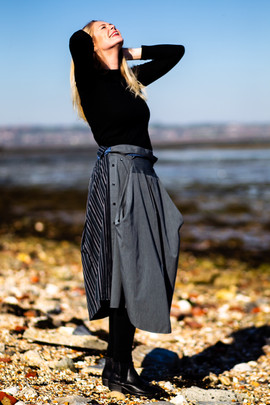 Skirt with Funnel Pockets