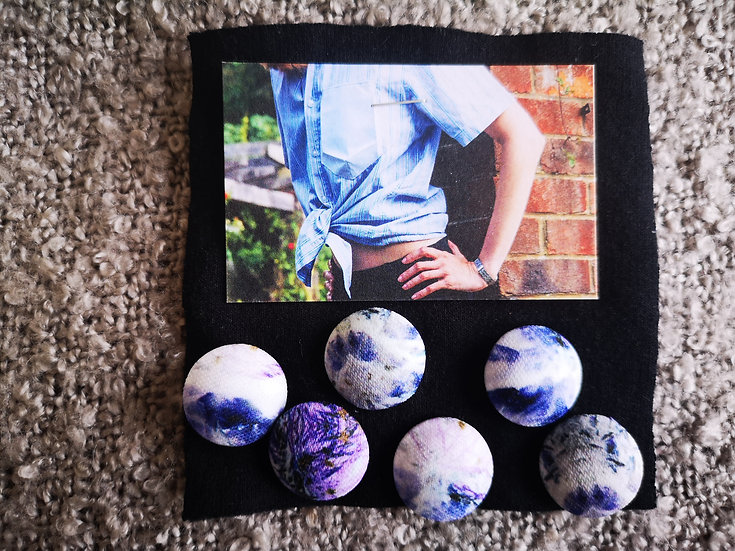 'Ultraviolet Florals' Buttons - set of 6