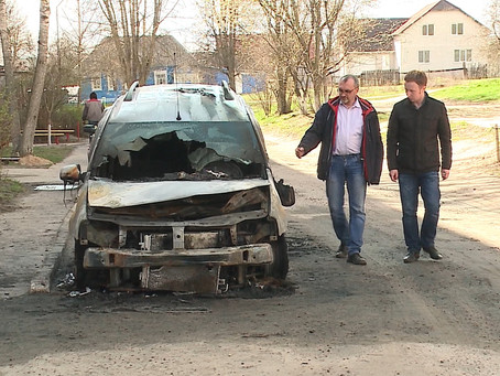 В Дятьково сожгли машину журналиста