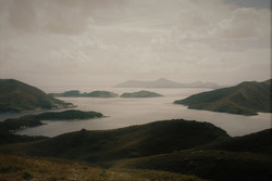 Looking out to Breaksea Islands