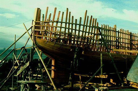 Ada Hardy Under Construction Triabunna, Tasmania 1987