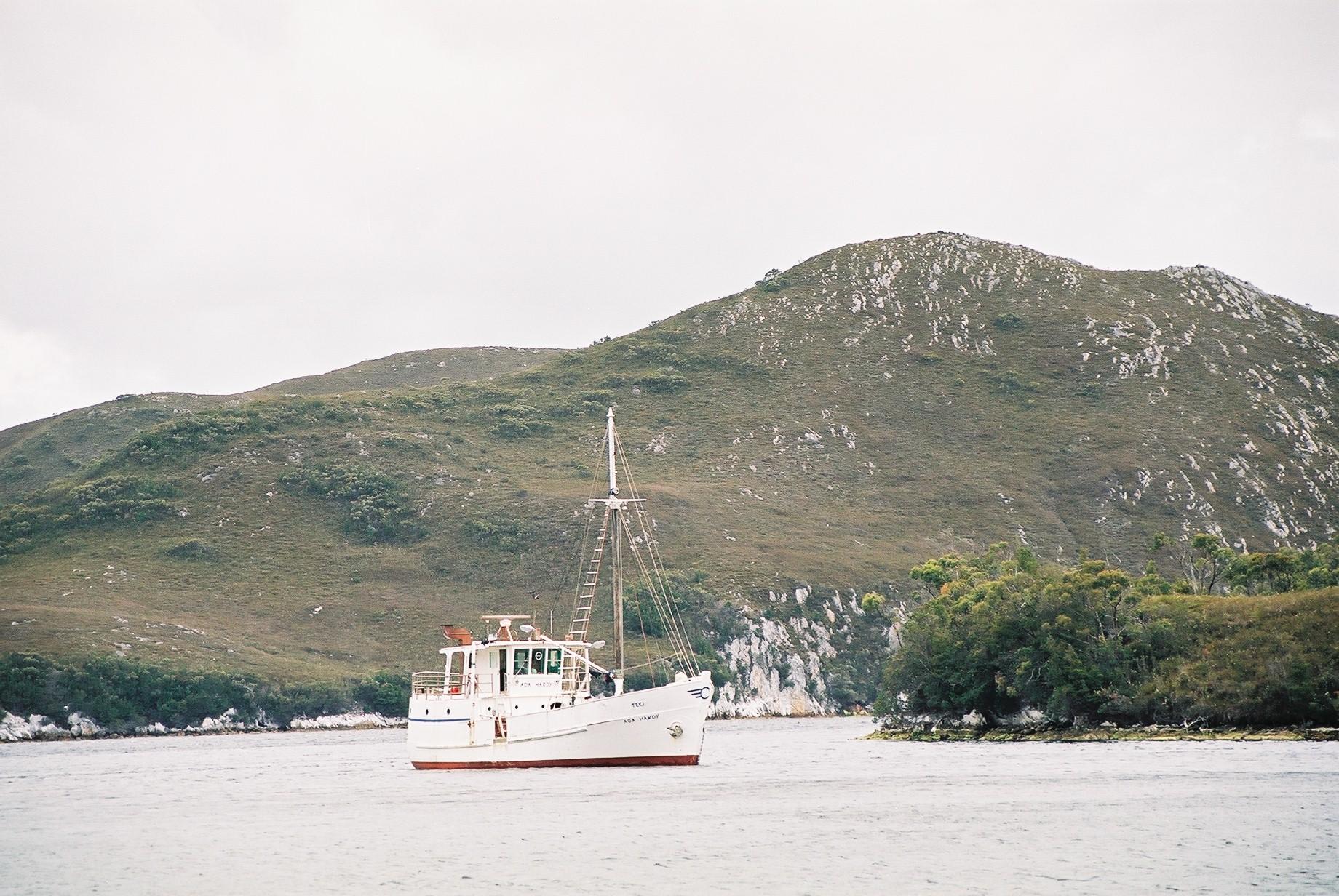 Anchored Wombat Cove
