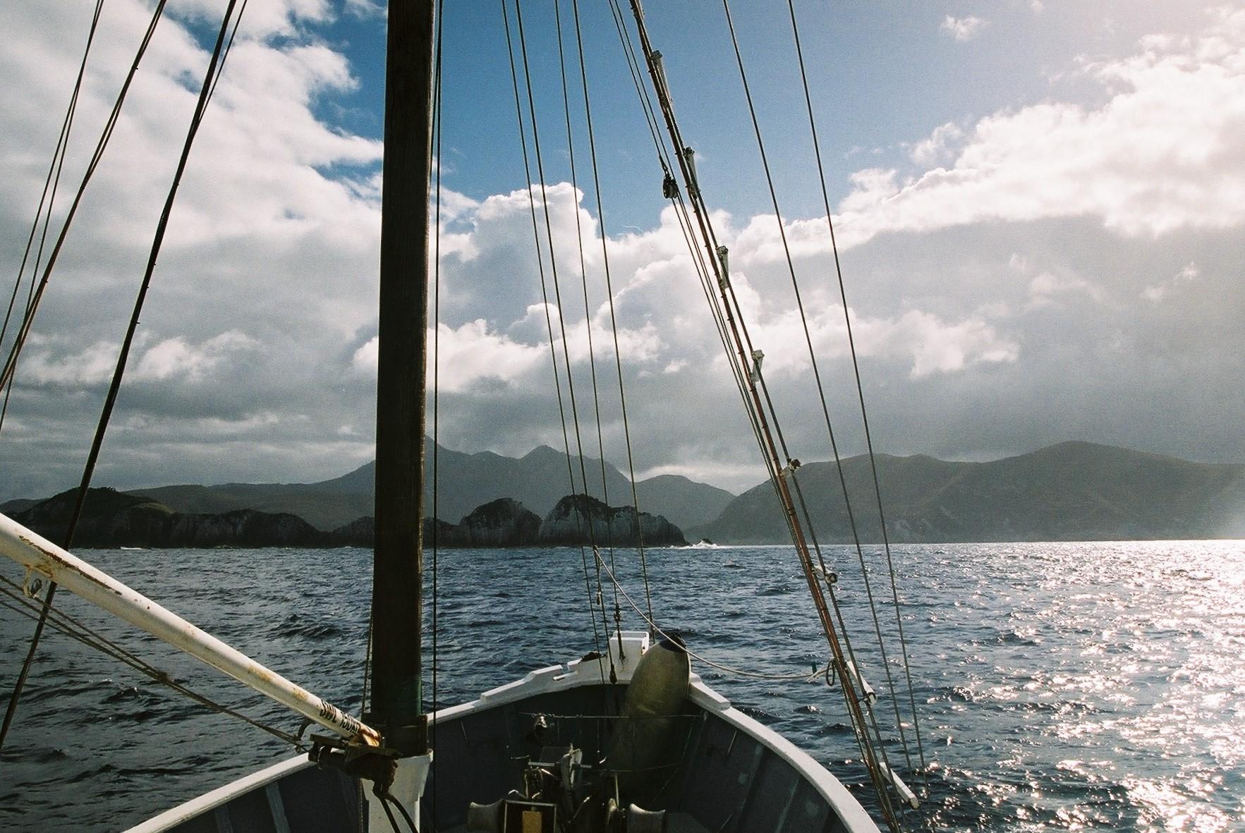 Approaching Breaksea Islands