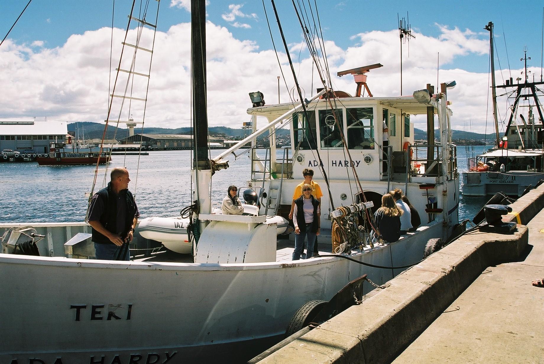 Crew change Hobart