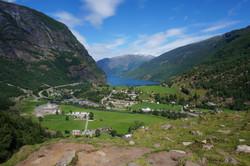 View down Aurlandsfjorden