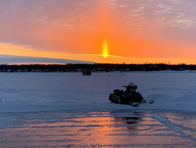 otter tail winter sunset