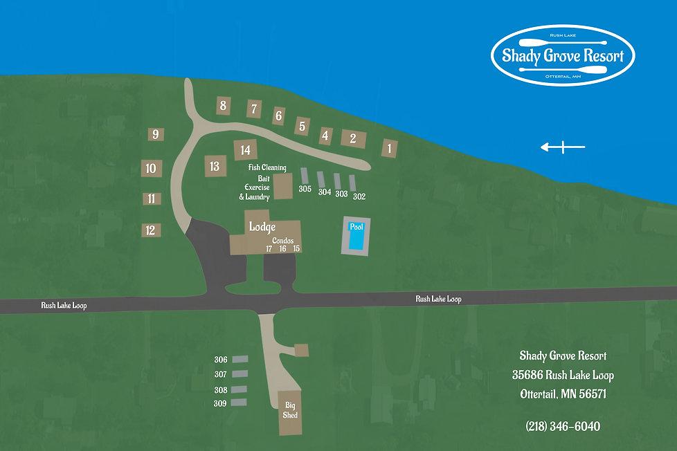Shady Grove Resort Map