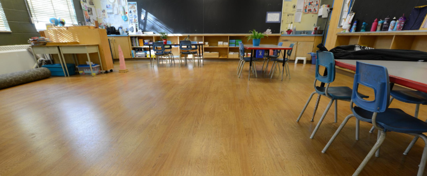 Finished classroom floor