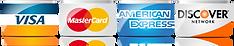 Visa, Mastercard, Amex, Discover Card Logos