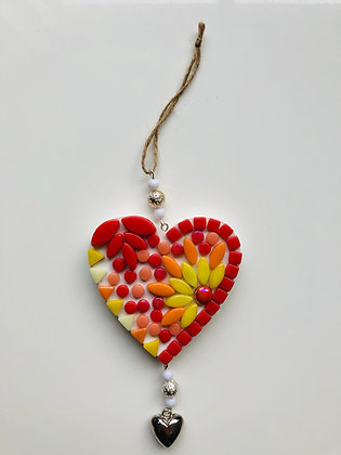 DIY hanger hart - rood oranje