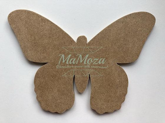 MDF Vlinder 27cm