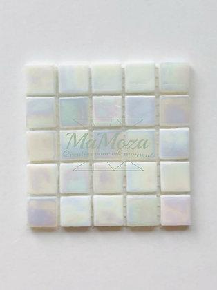 Opaline  Wit 15mm iriserend 25 stuks