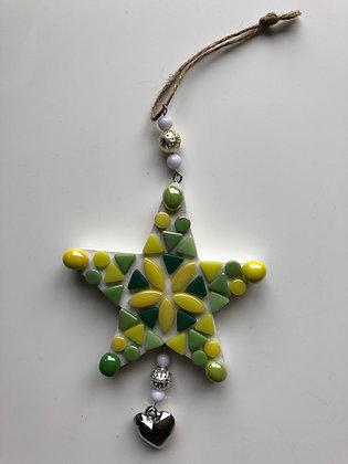 DIY hanger ster -        groen geel