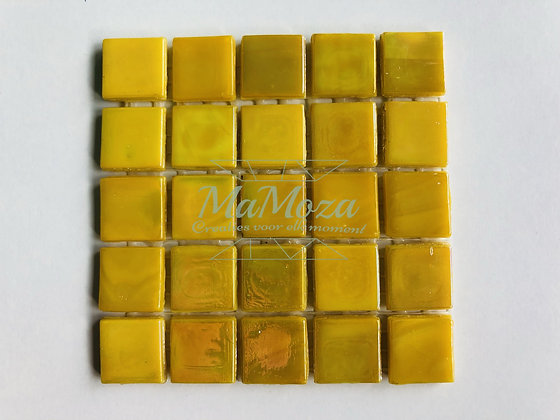 Citroen geel 15mm iriserend 25 stuks