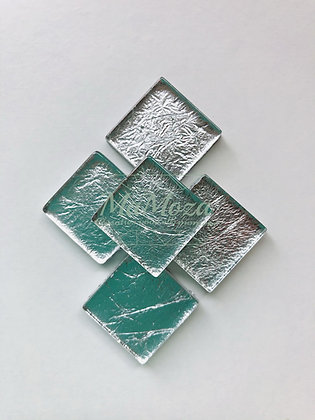 Folie 2x2 Zilver - 14 st
