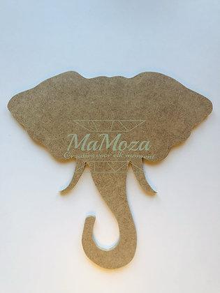MDF Kop Olifant 28cm