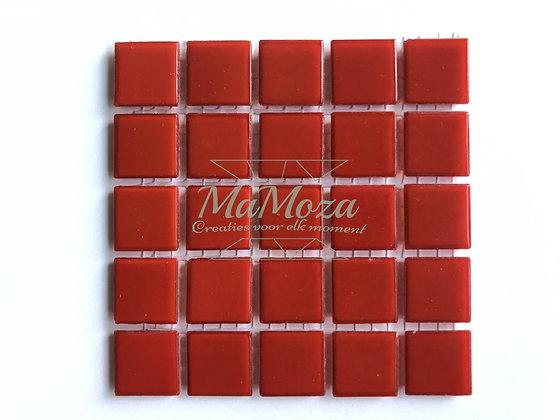 Basis glad Rood 2x2 25 stuks