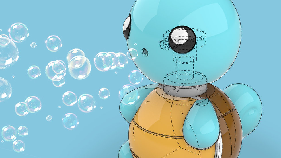 Squirtle Soap Bottle Casing