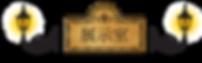 19世紀のレトロな雰囲気のガス灯と展示室タイトル