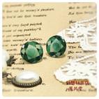 人工宝石 緑 かわいい ロリィタ プラ版 レジン アクセサリーファンタジー スチームパンク クラシカル アンティーク