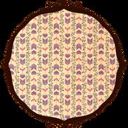 恋文矢絣 紫矢絣