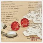人工宝石 赤 かわいい ロリィタ プラ版 レジン アクセサリーファンタジー スチームパンク クラシカル アンティーク
