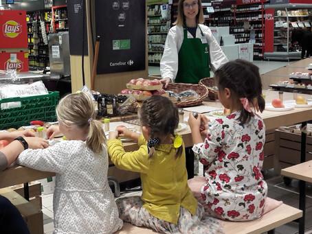 C'est le début d'ateliers enfants autour de la Bio !