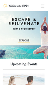 Events website templates – Yoga Retreat